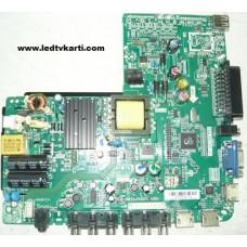 TP.VST59.P83 890.CVS-V59P83X-33H ST2751A01-4 SANYO LE71S16HM LED TV İÇİN ANAKART MAİN BOARD